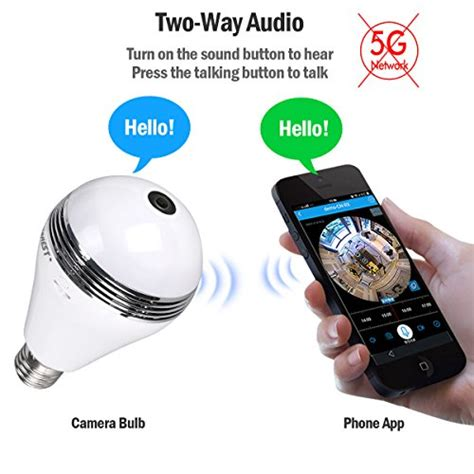 Wireless Vr Ip Fisheye Lens And Free App For Mobile Phone bulb vr panoramic bulb with 360 degree fisheye lens wireless wifi panoramic ip