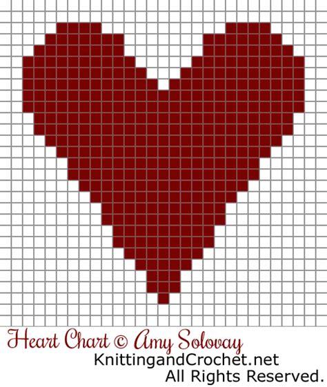 heart graph pattern crochet heart knitting and crochet