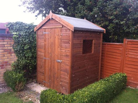 5x4 apex tanalised shed easy shed