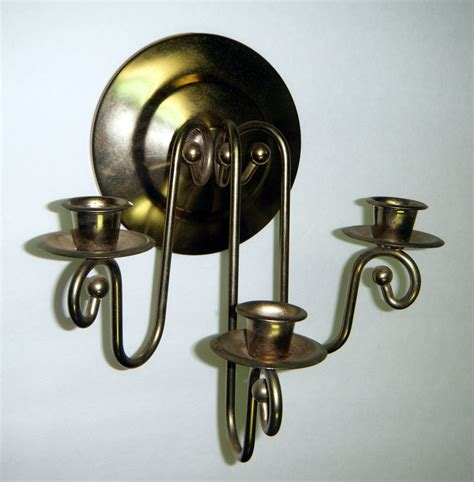 wall sconce candelabra 3 candle home interior vintage ebay