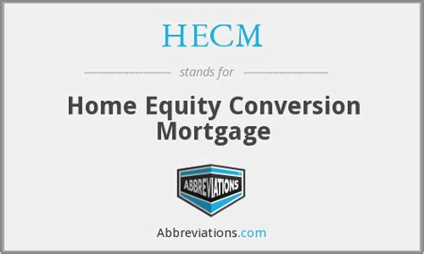 hecm home equity conversion mortgage