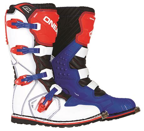 motocross boots size 7 o neal rider motorcycle mx boots blue red size 7 ebay