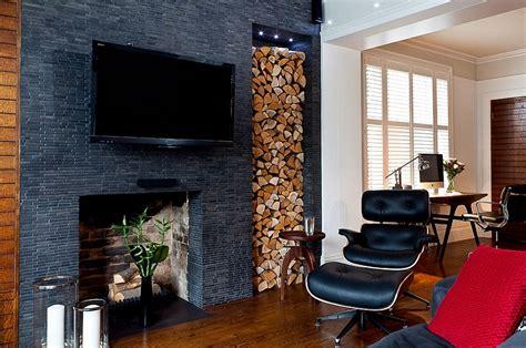 Interior Modern Living Room - the artful woodpile 30 fabulous firewood storage ideas