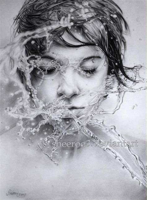 amazing pencil portraits pencil drawings by sheeroo3 drawings water and pencil
