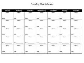 monthly food calendar template meal calendar printable monthly template