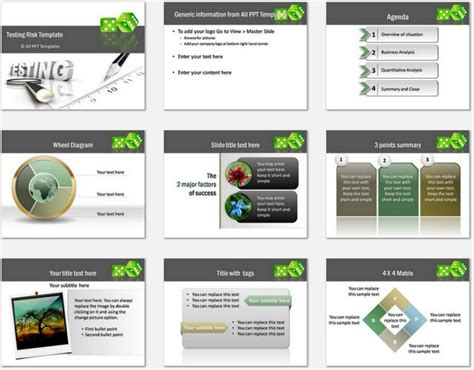 ppt templates for risk powerpoint testing risk template