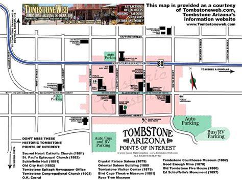 tombstone arizona map arizona map tombstone