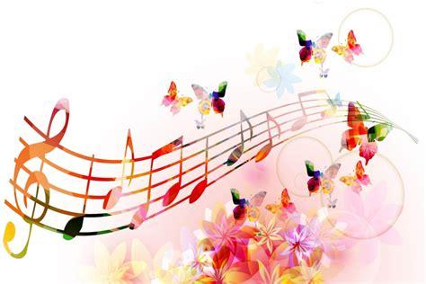 imagenes notas musicales para fondo de pantalla mariposas flores y notas musicales 74326