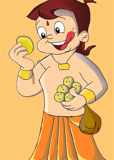 painting chota bheem pin pin chota bheem aur krishna in part 1