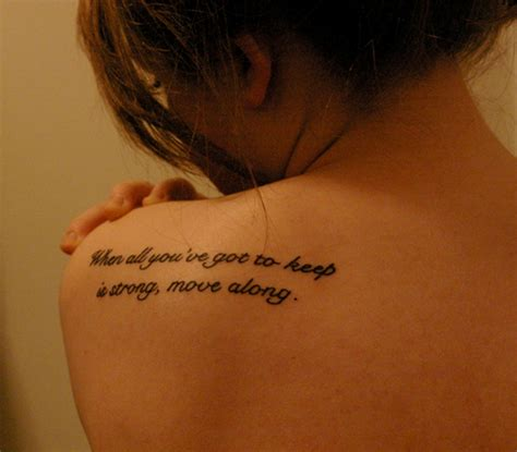 shoulder word tattoos 57 awesome quotes shoulder tattoos