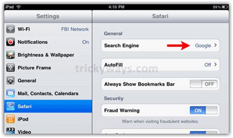 how to change default search engine of safari on