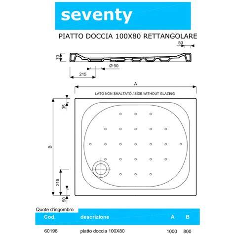 piatto doccia seventy pozzi ginori piatto doccia 100x80 cm seventy spessore 70 mm