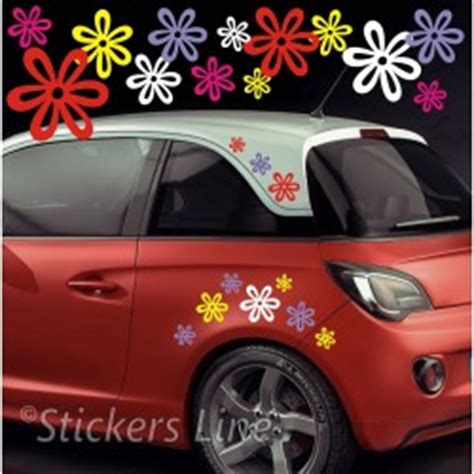 adesivi fiori per auto adesivi auto fiori fantasie stickers line
