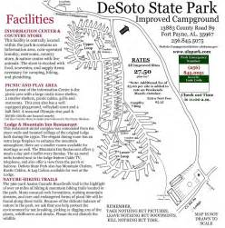 Alabama State Parks Map by Desoto State Park Maplets