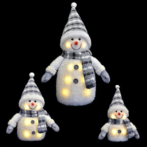 blue grey light up snowman decoration novelty christmas 33