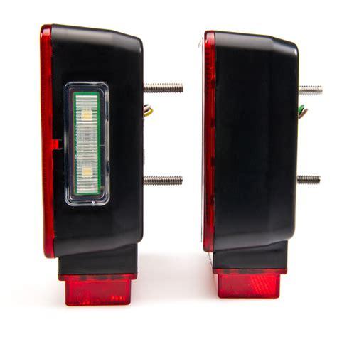 led tail lights for a trailer square led trailer light kit 4 1 2 led brake turn tail