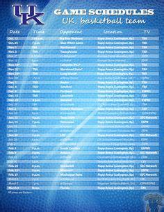 printable uk basketball schedule uk basketball on pinterest kentucky wildcats basketball