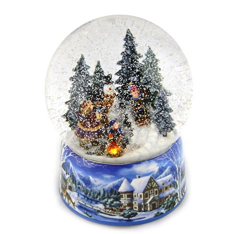 let it snow light up rotating musical christmas snowstorm globe ebay