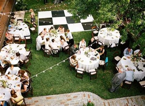 backyard reception small backyard weddings on small wedding