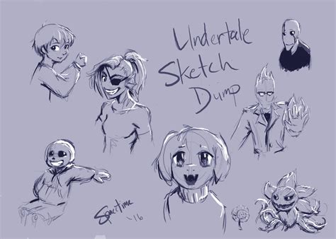 undertale sketchbook undertale sketch dump by spacetime042 on deviantart