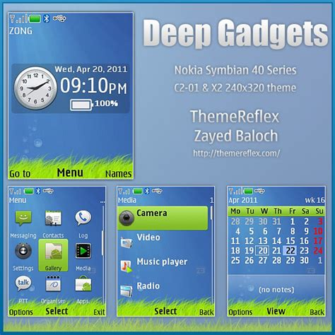 nokia themes reflex deep gadgets theme for nokia c2 01 x2 themereflex