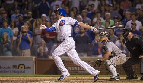 kris bryant provides cubs with hr and save hoy
