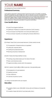 cv exle with a personal statement curriculum vitae