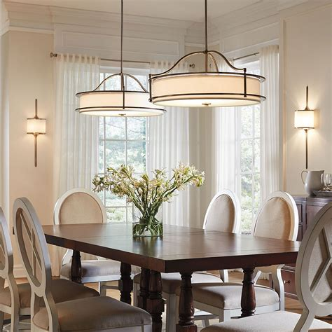 Semi Flush Dining Room Light Dining Room Lighting Emory Collection Emory 3 Light Pendant Semi Flush Clp Kichler