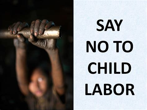 Says No To by Say No To Child Labour
