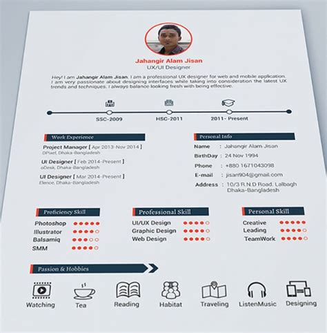 Resume Template User Experience 16 Ejemplos De Curriculums Creativos Y Profesionales Frogx Three