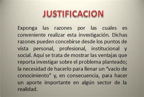ejemplos de justificacion investigaci 211 n grado cuarto