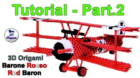 3d Origami Airplane - origami 3d airplane fokker dr 1 tutorial 1 32 part 2 my