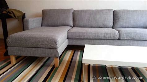 karlstad loveseat review ikea karlstad sofa and chaise longue design youtube
