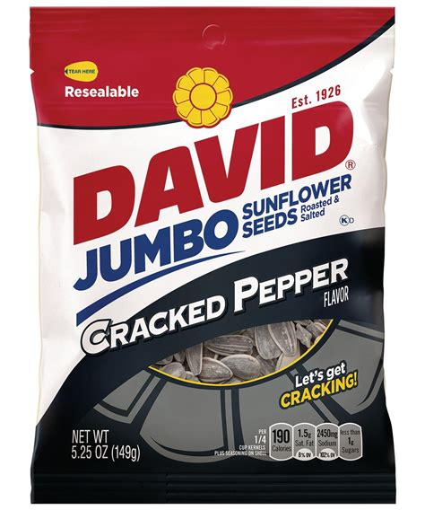 black pepper sunflower seeds david original sunflower seeds 14 5 ounce bags pack of 12 grocery gourmet food