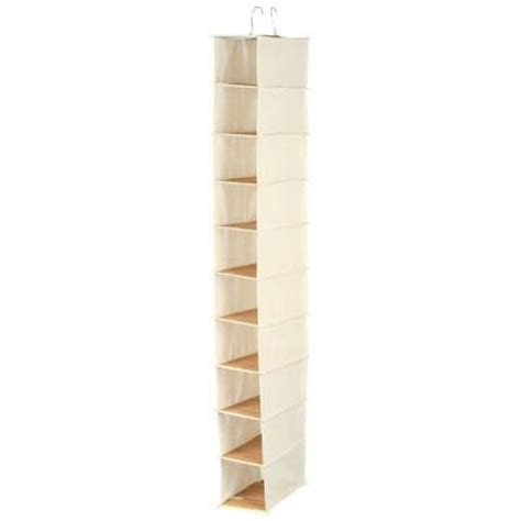 honey can do hanging 10 pocket shoe organizer in canvas
