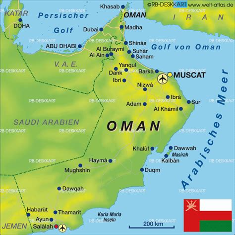 oman in the world map muscat karte