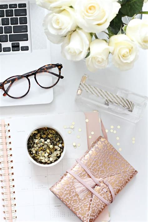 Girly Office Desk Accessories Girly Desk Space Pinterest