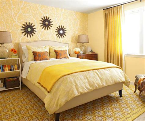 bedroom decorating ideas  yellow color