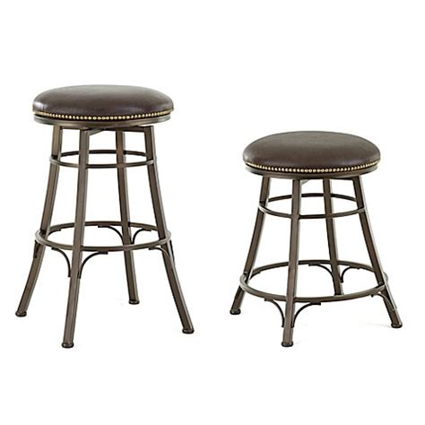 Bed Bath And Beyond Bar Stool Steve Silver Co Bali Backless Swivel Bar And Counter Stools Bed Bath Beyond
