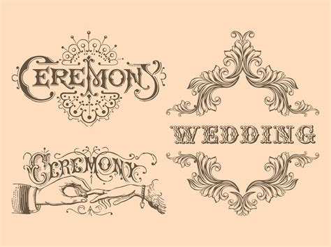 Wedding Invitation Letter Vector Free 13 Vintage Wedding Vector Images Vintage Wedding Vectors Free Free Vector Wedding Invitation