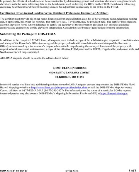 fema application form fema application form for free page 8