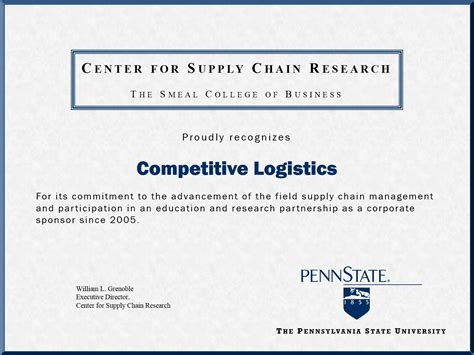 Pennsylvania State World Cus Mba by Penn State Supply Chain Management Best Chain 2018