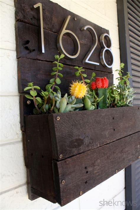 Make Your Own Planter Box by How To Make Your Own Pretty Address Planter Box