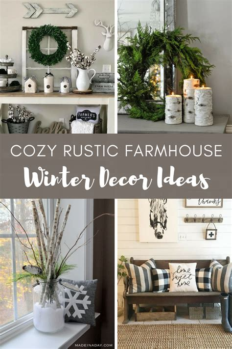 cozy rustic farmhouse winter decor ideas justhome