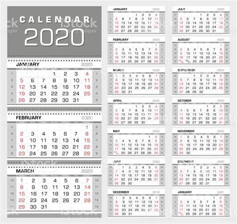 wall quarterly calendar   week numbers week start  sunday  months stock