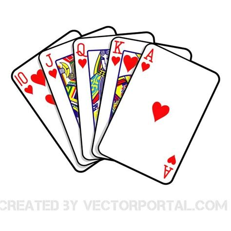 royal flush vector image download at vectorportal