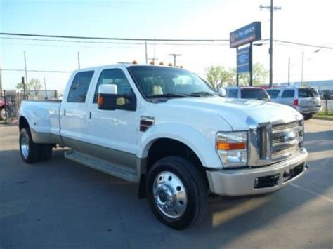 purchase used 2008 ford f 450 crew cab king ranch diesel