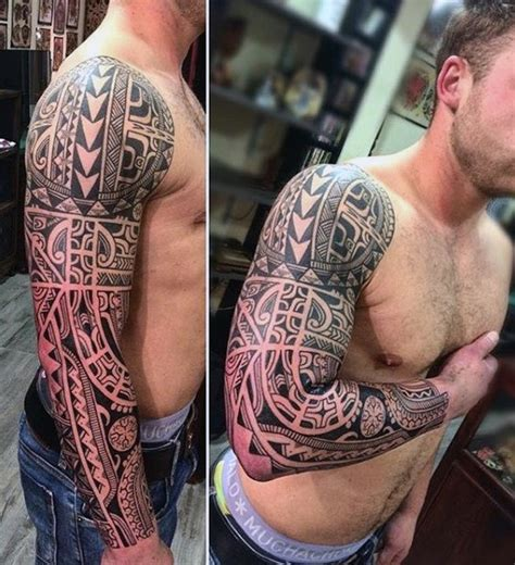 whole arm tattoo designs 90 tribal sleeve tattoos for manly arm design ideas