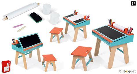 bureau janod bureau et tabouret d 233 colier orange et bleu mobilier