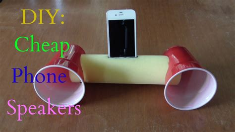 diy cheap phone speakers that don t use electricity